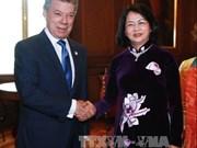 国家副主席邓氏玉盛对哥伦比亚进行正式访问