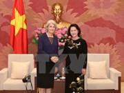 越南国会主席阮氏金银会见丹麦和瑞典驻越南大使
