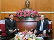 越南祖国阵线与老挝建国阵线加强合作关系