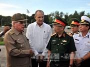 越南国防部高级代表团对古巴进行正式友好访问