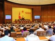 第十四届国会一次会议:递交会议第十四届国会主席、副主席及国会常委会委员等职务候选人人选名单