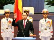 新当选的越南国家主席陈大光宣誓就职(组图)