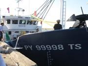 越南富安省最大钢壳渔船正式下水