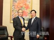 越南政府副总理兼外交部长范平明分别会见各国外长