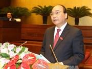 第十四届国会一次会议:阮春福总理作了关于上半年经济社会发展计划执行情况的报告