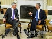 新加坡总理李显龙敦促美国尽早批准TPP