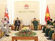 越南人民军总参谋部领导会见国际客人