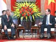 越南国家主席陈大光会见印尼国防部长