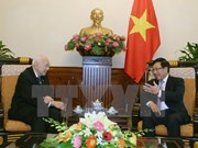越南政府副总理兼外交部长范平明会见泰国前副总理兼外交部长陈裕财