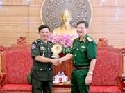柬埔寨王家军队干部代表团访问越南人民军第四军区