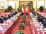 缅甸国务资政昂山素季与中国国务院总理李克强举行会谈
