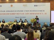 越南与欧亚经济联盟自贸协定将从10月5日起正式生效