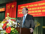 国家主席陈大光赴防空空军军种调研