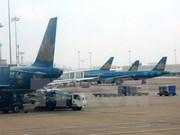 受第三号台风影响河内有大暴雨越航取消多航班