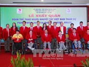 2016年里约残奥会:越南残奥代表团出征仪式在胡志明市举行