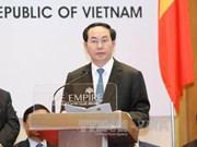 越南国家主席陈大光出席越文企业论坛
