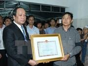 越南国家主席追授牺牲的飞行学员范德忠少尉一级祖国捍卫勋章