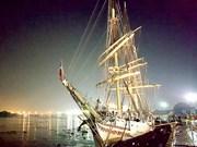挪威最古老的帆船瑟兰达号抵达胡志明市庆会港