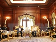越共中央组织部高级代表团在老挝进行的各活动