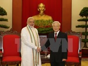 越共中央总书记阮富仲会见印度总理纳伦德拉•莫迪