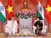 越南国会主席阮氏金银会见印度总理纳伦德拉•莫迪