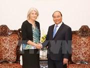 越南政府总理阮春福会见丹麦驻越大使夏洛特·劳尔森