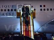 法国总统弗朗索瓦•奥朗德开始对越南进行国事访问
