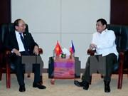 阮春福总理会见菲律宾总统杜特尔特