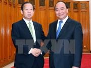 阮春福总理会见日本自民党干事长二阶俊博