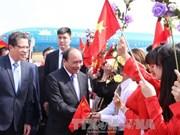 越南政府总理阮春福抵达北京开始对中国进行正式访问
