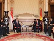 胡志明市人民委员会主席阮成锋会见新加坡副总理张志贤
