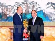 阮春福总理会见中国大型集团和银行领导