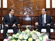 越南国家主席陈大光会见阿塞拜疆驻越大使阿纳尔·伊马诺夫