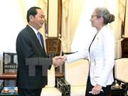 国家主席陈大光会见荷兰驻越南大使Nienke Trooster