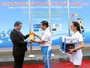第五届亚洲沙滩运动会升旗仪式在岘港市举行
