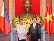 越南国家主席陈大光设宴招待菲总统杜特尔特访越