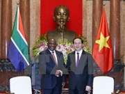越南国家主席陈大光会见南非副总统和英国议会下议院副议长