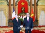越南国家主席陈大光接受七国新任驻越大使递交国书