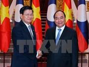 阮春福总理阮春福与老挝总理通伦•西苏里举行会谈