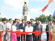 设在柬埔寨首都金边的越南志愿军纪念碑修缮工程正式竣工