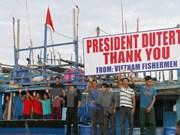 越南欢迎菲律宾本着人道主义精神解决渔民问题