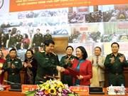 越共中央民运部与越南人民军总政治局配合开展民运工作
