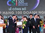 西贡—河内商业股份银行被评为2016年最具可持续性企业