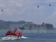 """载有2300名外国游客的""""云顶梦""""号豪华邮轮抵达岘港市"""