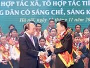 阮春福总理出席先进合作社、合作组及农民表彰大会