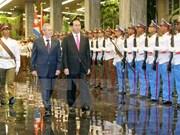 陈大光主席与古巴国务委员会主席兼部长会议主席劳尔·卡斯特罗举行会谈