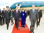 越南国家主席陈大光抵达罗马 开始对意大利进行国事访问