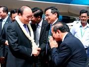 越南政府总理阮春福抵达柬埔寨暹粒机场 开始赴柬出席CLV9之行