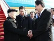 越共中央总书记阮富仲抵达北京开始对中国进行正式访问(组图)