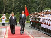 新加坡总理李显龙与夫人对越南进行正式访问